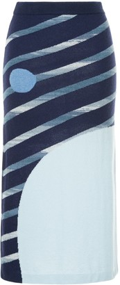 Onefifteen Striped Knitted Skirt