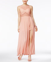 Material Girl Juniors' Slit Illusion Maxi Dress, Only at Macy's