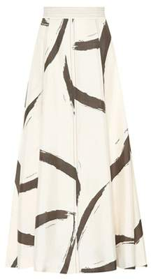 Zimmermann Painted Heart printed silk skirt