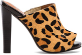 Jeffrey Campbell Curie Heel with Calf Fur