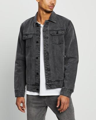 Staple Superior - Men's Black Denim jacket - Denim Trucker Jacket - Size XS at The Iconic