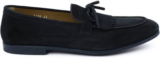 Doucal's Doucals Blue Suede Mocassin Tassel Loafers