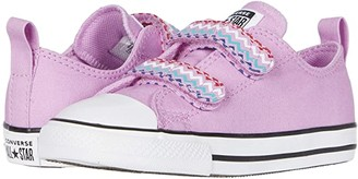Converse Chuck Taylor(r) All Star(r) 2V Voltage (Infant/Toddler) (Peony Pink/Black/White) Girl's Shoes