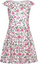 Yumi Rose Print Cap Sleeve Dress