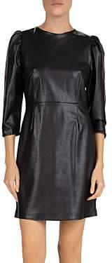 The Kooples Ski Faux-Leather Mini Dress