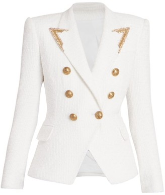 Balmain Serge Textured Knit Jacket