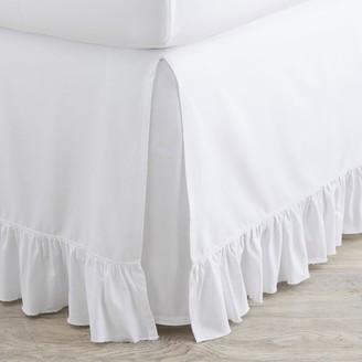 Pottery Barn Teen Washed Cotton Ruffle Organic Bedskirt