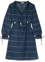 Lemlem Uju Striped Cotton-voile Dress - Indigo