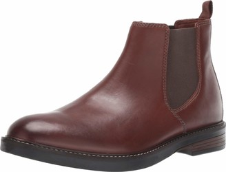 Clarks Men's Paulson Up Chelsea Boot Mahogany Leather 80 M US
