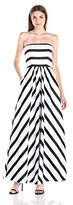 Betsy & Adam Women's Stripe Balldress Bestseller