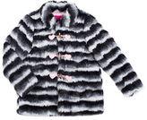 Betsey Johnson Girls 7-16 Faux Fur Long Sleeve Jacket