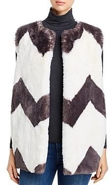Capote Chevron Faux-Fur Vest