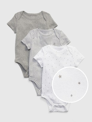 Gap Baby First Favorite Short Sleeve Bodysuit (3-Pack)