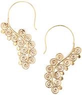 Goldtone Grape Drop Earrings