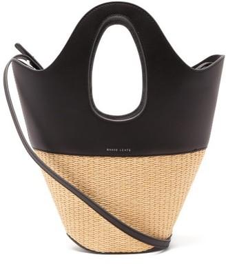 Danse Lente Leather And Wicker Small Tote Bag - Womens - Black Multi