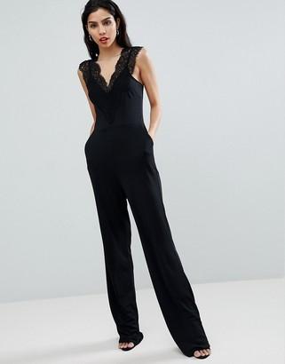 French Connection Lace Detail Jumpsuit