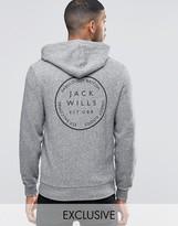 Jack Wills Hoodie With Back Print In Granite Exclusive