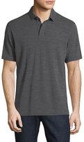 Zegna Sport Techmerino Wool Polo Shirt, Dark Gray