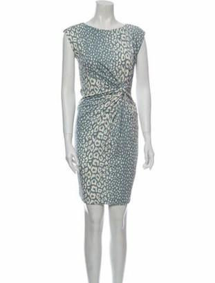 Gucci Animal Print Knee-Length Dress Blue
