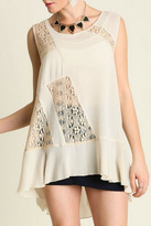 Umgee USA Taupe Lace Top