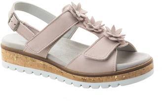 Dromedaris Adjustable Leather Flower Sandals -Rosine