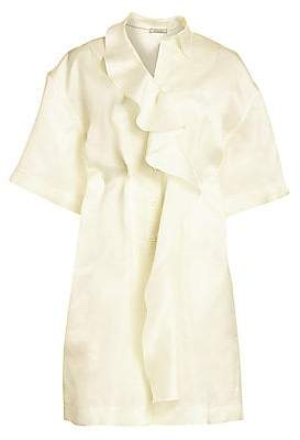 Nina Ricci Women's Silk Organza Ruffle Dress