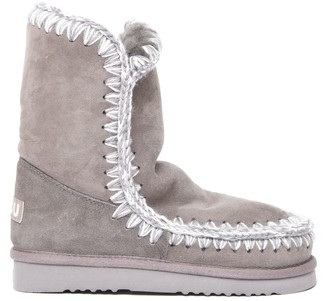 Mou Eskimo 24 Light Grey Suede Ankle Boot