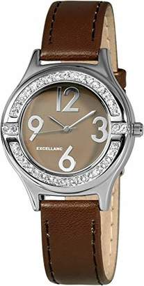 Excellanc Womens Analogue Quartz Watch with Leather Strap 1.93027E+11