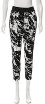 Helmut Lang Abstract Print Cropped Pants