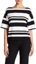 Lafayette 148 New York Relaxed Stripe Knit Pullover