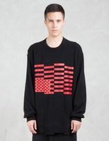 Lad Musician Loop Back Cloth Print Sweatshirt