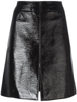 Courreges A-line skirt - women - Cotton/Polyurethane/Cupro - 40