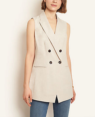 Ann Taylor Double Breasted Vest