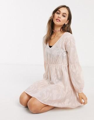 Influence burnout beach dress in peach