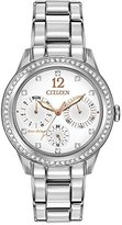 Citizen Eco-Drive Women's FD2010-58A Silhouette Crystal Analog Display Silver Watch