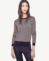 Ann Taylor Petite Houndstooth Sweater