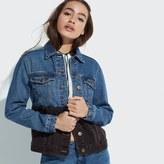 k / lab k/lab Two-Tone Denim Jacket
