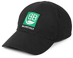 Balenciaga Men's BB Bio Logo Baseball Cap