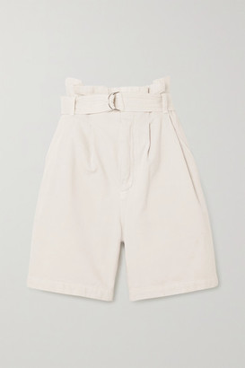 Citizens of Humanity - Space For Giants Kora Belted Organic Cotton-twill Shorts - Cream