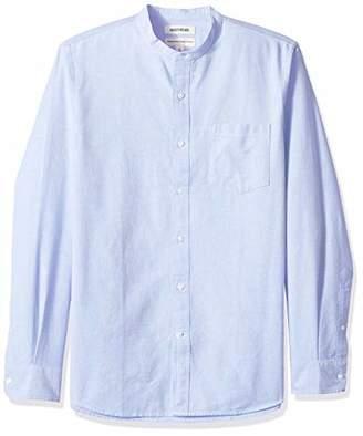 Goodthreads Men's Standard-Fit Long-Sleeve Band-Collar Oxford Shirt