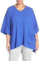 Melissa McCarthy Plus Size Women's One Pocket V-Neck Tee