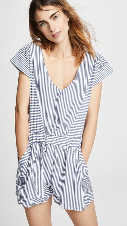 0843f1965b Womens Striped Romper - ShopStyle