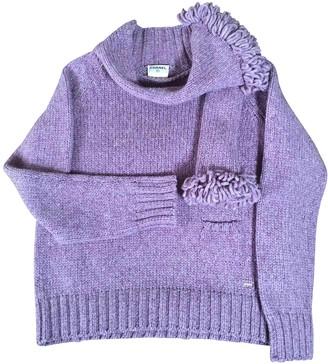 Chanel Purple Wool Knitwear