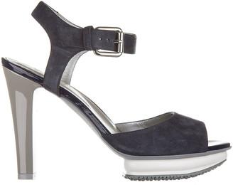 Hogan Contrasting Panelled Heel Sandals