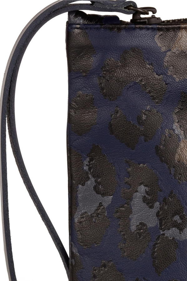 Christopher Kane Leopard-print leather clutch