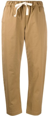 Semi-Couture Drawstring Straight-Leg Trousers