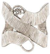 Saint Laurent Woven Openwork Cuff Bracelet