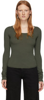 Lemaire Green Second Skin Long Sleeve Pullover