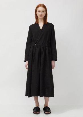 Pas De Calais Linen Wrap Dress