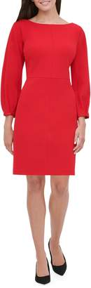 Tommy Hilfiger Balloon-Sleeve Scuba Sheath Dress